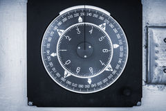 Nautical compass deal on a yacht control panel Royalty Free Stock Photos