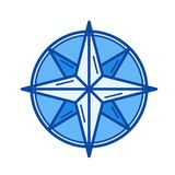 Nautical compass line icon. Royalty Free Stock Photo