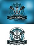 Nautical craftsman emblem Royalty Free Stock Photo