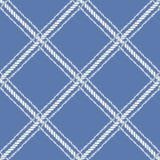 Nautical crossed rope seamless pattern. Royalty Free Stock Image