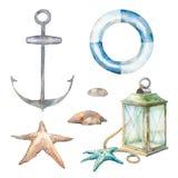 Nautical watercolor decor