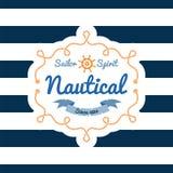 Nautical design Royalty Free Stock Image