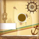 Nautical design elements Stock Photos