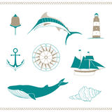 Nautical Design Elements Royalty Free Stock Photo
