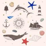 Nautical Design Elements Royalty Free Stock Image