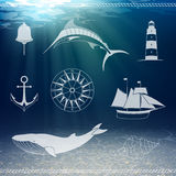 Nautical Design Elements Stock Images