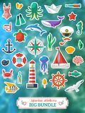 Nautical design elements. Vector illustration. Royalty Free Stock Photography