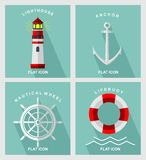 Nautical element flat icon. MODERN FLAT ICON OR VECTOR ART Royalty Free Stock Photo