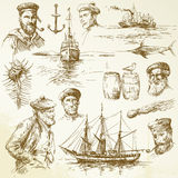 Nautical elements royalty free illustration