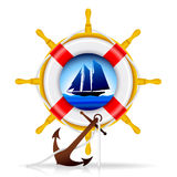 Nautical elements. Nautical Emblems - Summer design elements - VECTOR / Eps8 Royalty Free Stock Photos
