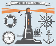 Nautical elements collection Stock Image