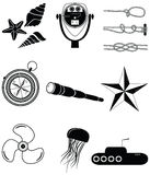 Nautical elements Stock Images