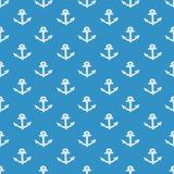 Nautical elements patchwork pattern Stock Images