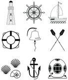 Nautical elements Royalty Free Stock Images