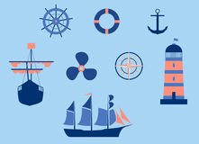 Nautical elements Stock Photography