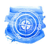 Nautical emblem with compass Stock Photo