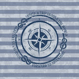 Nautical emblem with compass vector illustration