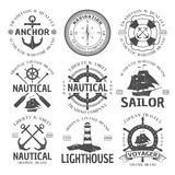 Nautical Emblem Set Stock Photo