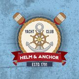 Nautical Emblem Vintage Royalty Free Stock Photography