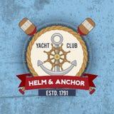 Nautical Emblem Vintage Royalty Free Stock Photography