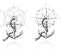 Nautical emblems Royalty Free Stock Images