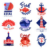 Nautical Emblems Set Royalty Free Stock Photo