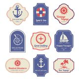 Nautical emblems set Royalty Free Stock Images