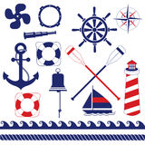 Nautical Equipment. S and element set Royalty Free Stock Photos