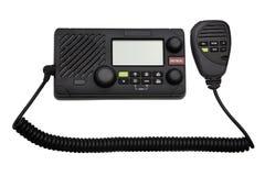 Nautical equipment: Marine boat radio isolated on white Stock Images