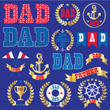 Nautical Father's Day Clipart Royalty Free Stock Photography