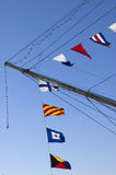 Nautical flag alphabet. Frigate Sarmiento, Puerto Madero Neighborhood, Buenos Aires, Argentina Royalty Free Stock Image
