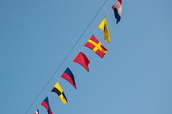Nautical flag system Stock Photography