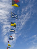 Nautical Flags. From a tourist cruise in the fjords of Stavanger Stock Photos