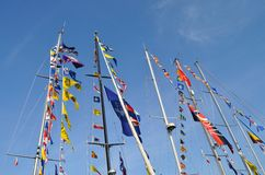 Nautical flags Stock Image