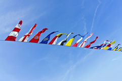 Nautical flags Stock Photo