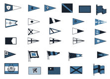 Nautical flags stock illustration