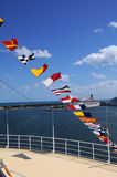 Nautical Flags at Port Stock Photo