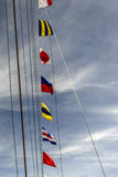 Nautical flags. Some letters of the nautical international alphabet Royalty Free Stock Photography