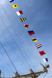 Nautical flags. Some letters of the nautical international alphabet Royalty Free Stock Images