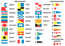 Nautical flags vector illustration