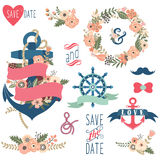 Nautical Floral Wedding Collections Stock Photo