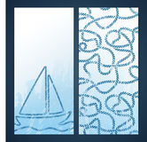 Nautical flyers with seafaring elements Royalty Free Stock Photography