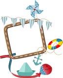Nautical frame theme Royalty Free Stock Images