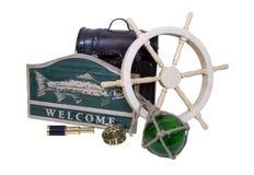 Nautical greeting Stock Photo