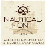 Nautical Hand Crafted Typeface Poster Stock Photography