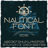 Nautical Hand Crafted Typeface Poster Royalty Free Stock Images
