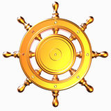 Nautical helm 3d render design on white background Royalty Free Stock Photography
