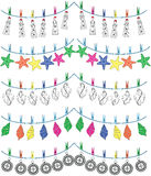 Nautical holiday bunting 2 Stock Photos