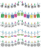 Nautical holiday bunting I Stock Photography