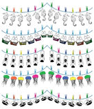 Nautical holiday bunting 3 Royalty Free Stock Photos